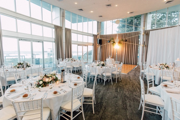 city beach wedding reception